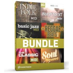 Toontrack Indie & Vintage MIDI 6-pack