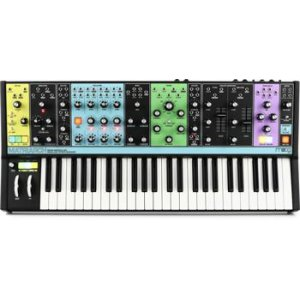 Yamaha MODX8 88-Key Weighted Action Synthesizer with Motion /& Super Knob Control and 4-Part Seamless Sound Switching Bundle with Stand MIDI Cable /& Zorro Synthesizer Polishing Cloth 2 Headphone,