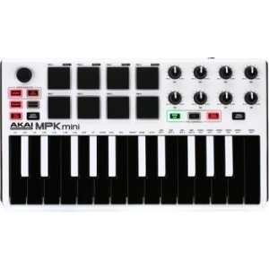 Akai Professional MPK Mini mkII Keyboard Controller - Limited Edition White  with Reverse Keys