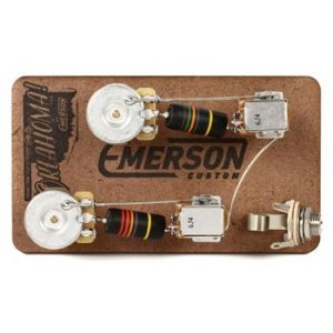 Emerson Custom Prewired Kit for Gibson Les Paul Junior   Sweeer on gibson solderless pickup system, parrot hands-free adapter harness, gibson eb-2d wiring, gibson quick connector,