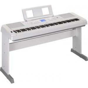Yamaha DGX-660 88-key Arranger Piano with Stand - Spotlight White