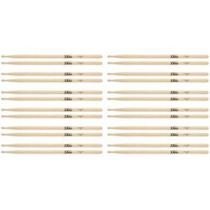 On-Stage Stands 5A Wood Tip Maple Drumsticks- 12 Pair