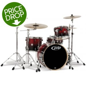 PDP Concept Birch 4-piece Drum Kit - Cherry to Black Fade