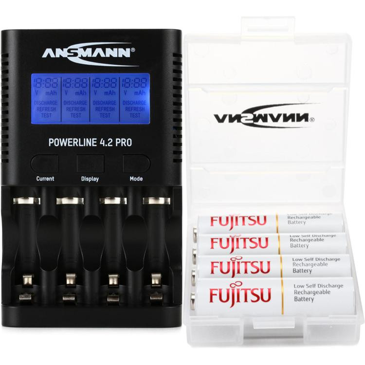 Ansmann Powerline 4 with (4) Max E Pro AA Batteries image 1