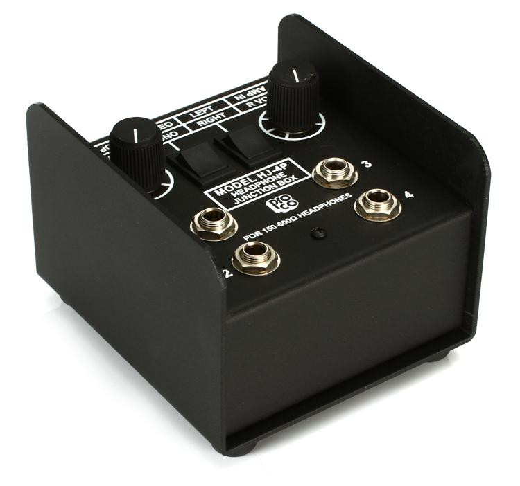 Pro Co HJ4P 4-Ch Headphone Junction Box image 1