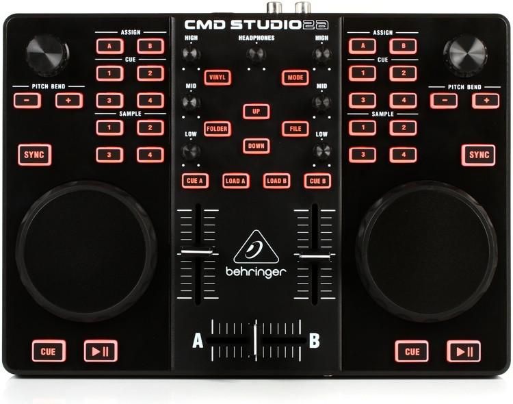 Behringer CMD Studio 2A Portable Dual-Deck DJ Controller image 1