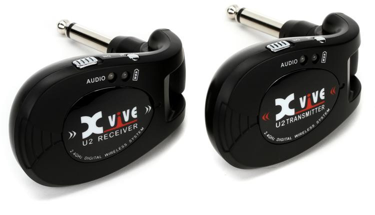 xvive audio u2 digital wireless guitar system black sweetwater. Black Bedroom Furniture Sets. Home Design Ideas