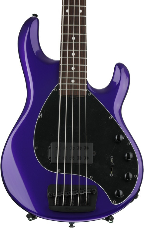 ernie ball music man stingray 5 h firemist purple with matching headstock rosewood. Black Bedroom Furniture Sets. Home Design Ideas