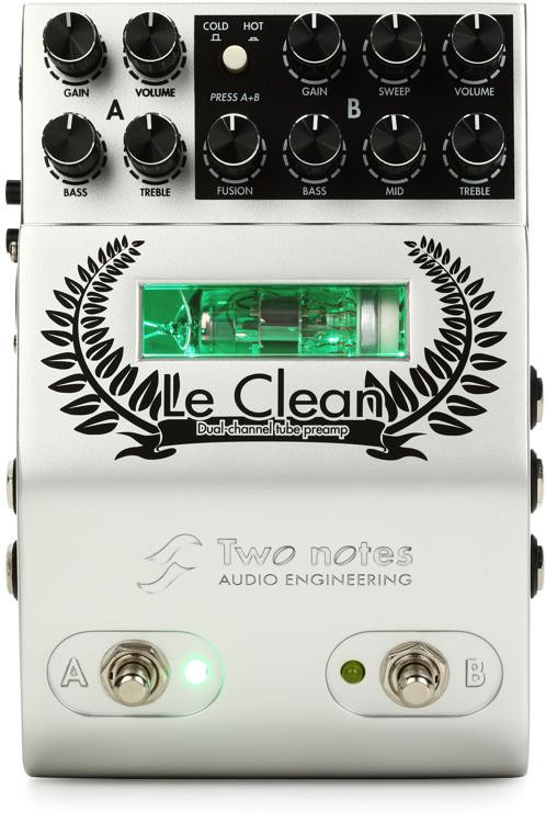 Two Notes Le Clean 2-channel U.S. Tones Tube Preamp Pedal image 1