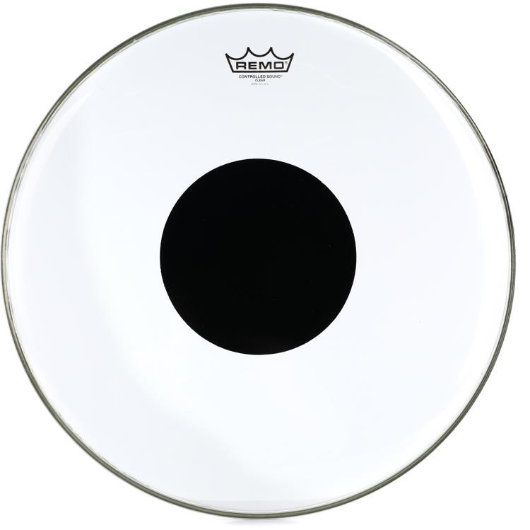 Remo Controlled Sound Clear/Black Dot Drumhead - 18