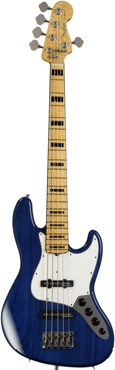 fender custom shop custom classic jazz bass v special cobalt blue transparent sweetwater. Black Bedroom Furniture Sets. Home Design Ideas