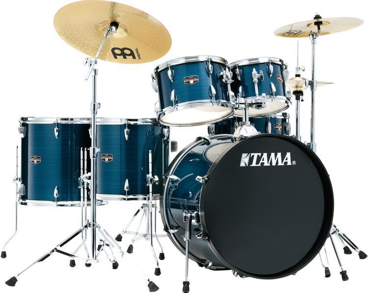 tama imperialstar complete drum set 6 piece hairline blue sweetwater. Black Bedroom Furniture Sets. Home Design Ideas