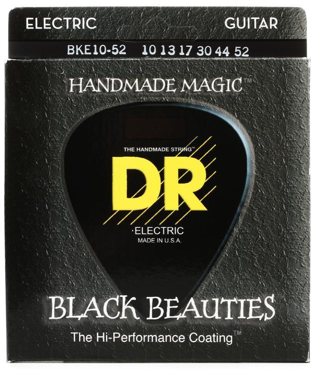 DR Strings BKE-10/52 Black Beauties K3 Coated Big and Heavy Electric Guitar Strings image 1