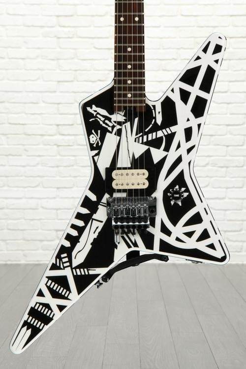 EVH Stripe Series Star - Black and White