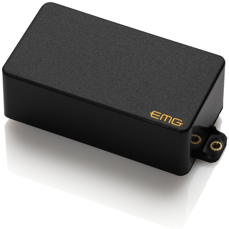 EMG 81TW Active Ceramic Coil Splitting Humbucker Guitar Pickup Black image 1