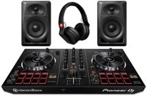 Pioneer DJ Digital DJ Package with DDJ-RB, DM-40s, and HDJ-700