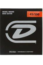 Dunlop DBN45100 Nickel Plated Steel Medium Light Bass Strings