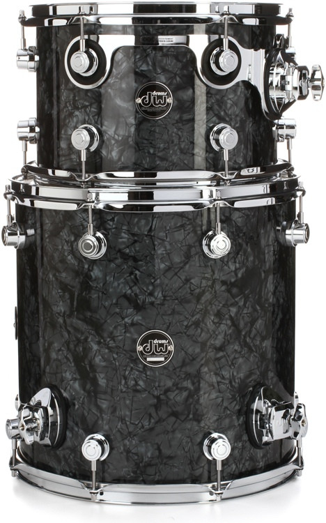 DW Performance Series 2-Piece Bop Tom Pack - Black Diamond Finish Ply image 1