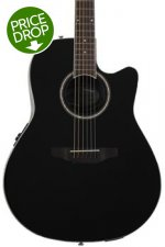 Ovation Applause AB24II Balladeer, Mid-depth bowl - Gloss Black