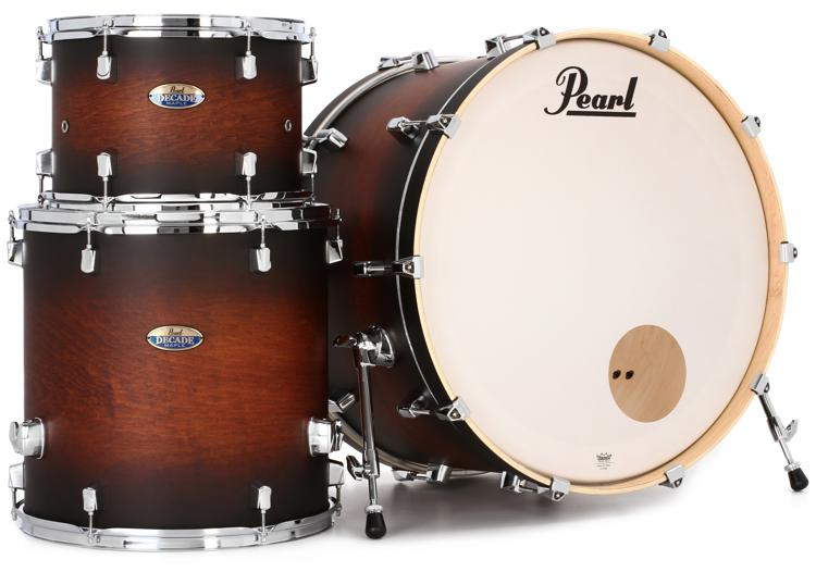 Pearl Decade Maple Shell Pack - 3pc - Satin Brownburst image 1