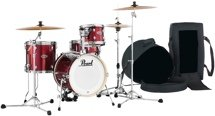 Pearl Midtown Series Shell Pack with Gig Bags - 4-pc - Black Cherry Glitter