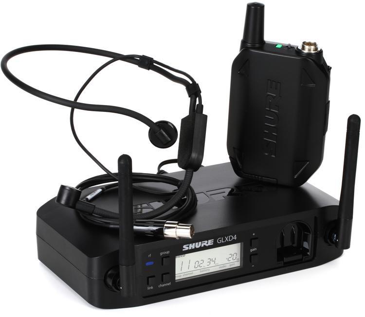 Shure GLX-D Digital Wireless System - PGA31 Headset Mic image 1