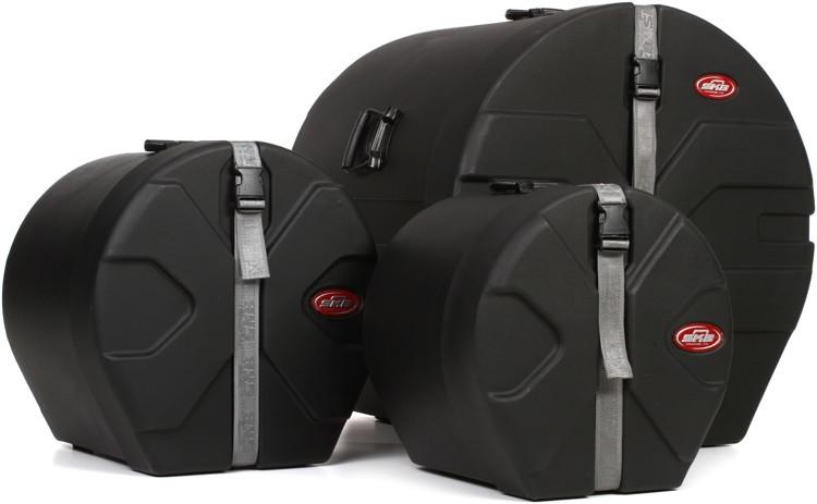 SKB 3-piece Drum Case Pre-Pack 18x22, 10x12, 12x14F image 1