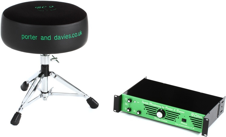Porter & Davies BC2RM Drum Throne W/Rack Mounted Amp - Round Seat With Base image 1
