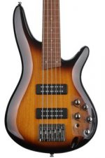 Ibanez SR375E SR Standard Fretless 5-String - Brown Burst