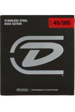 Dunlop DBS45105 Stainless Steel Medium Bass Strings