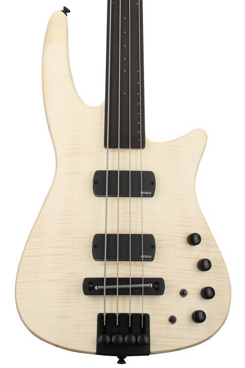 NS Design CR4 Radius Bass Guitar - Natural Satin, Fretless image 1