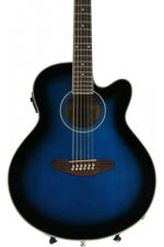 Ibanez AEL1512E 12-string - Transparent Blue Sunburst