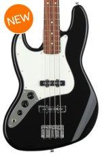 Fender Standard Jazz Bass, Left-handed - Black with Pau Ferro Fingerboard