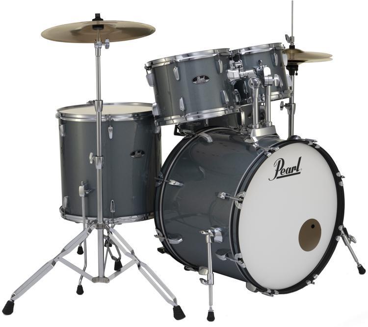 珍珠路演RS525SC / C 5件完整的鼓套装镲片 - 木炭金属图像1