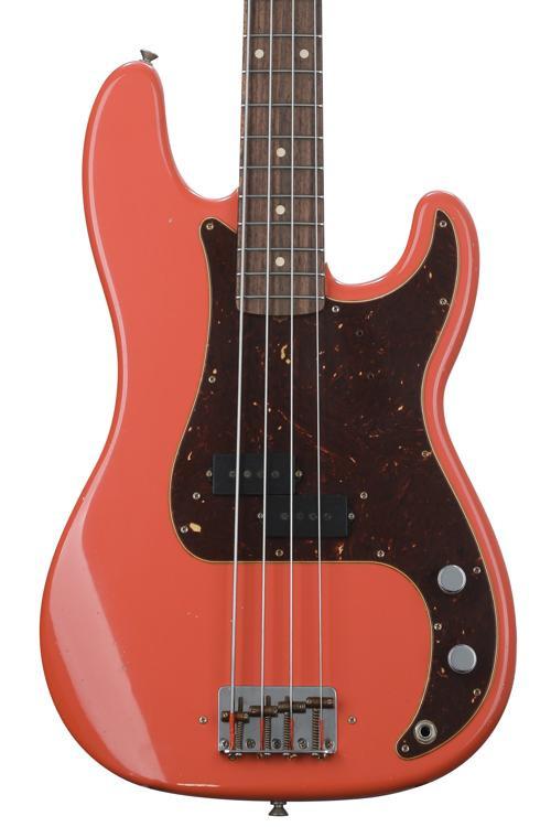 Fender Custom Shop Pino Palladino Precision Bass - Fiesta Red image 1
