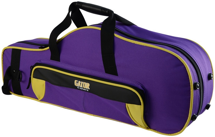 Gator GL-ALTOSAX-YP - Lightweight Alto Sax Case, Yellow & Purple image 1