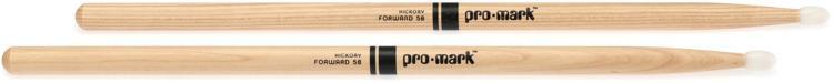 Promark TX5BN 5B Nylon Tip Hickory Drumsticks image 1