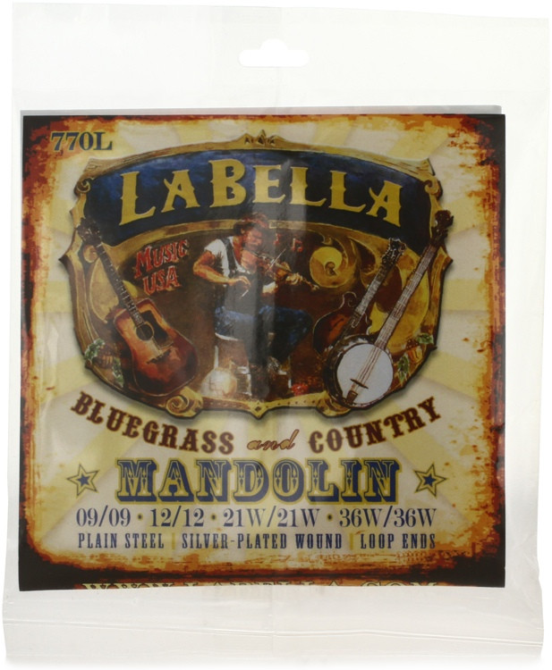 La Bella 770L Silver-plated Mandolin Strings - Light image 1