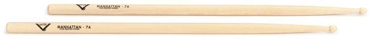 Vater American Hickory Drumsticks - 7A - Wood Tip image 1