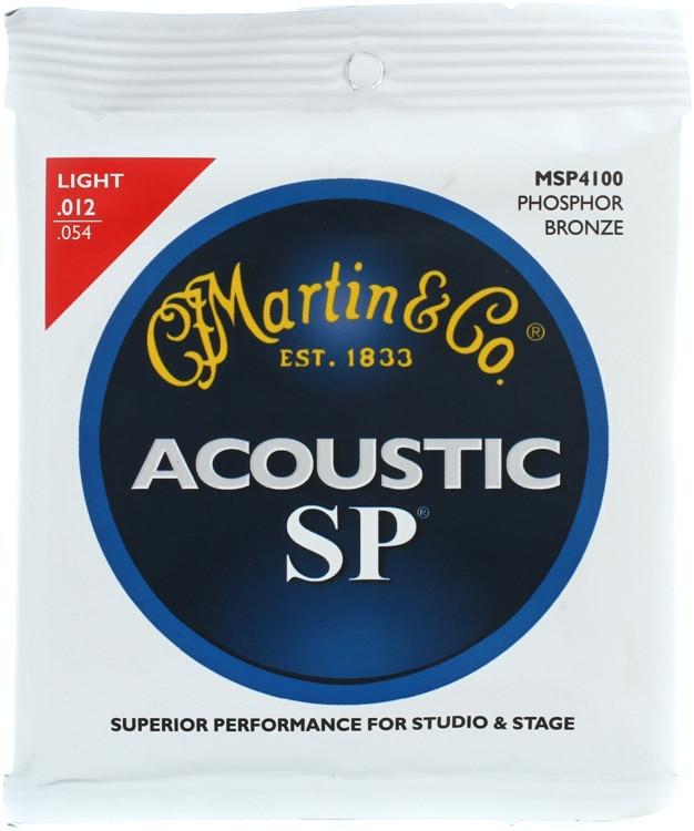 Martin MSP-4100 SP 92/8 Phosphor Bronze Light Acoustic Strings image 1