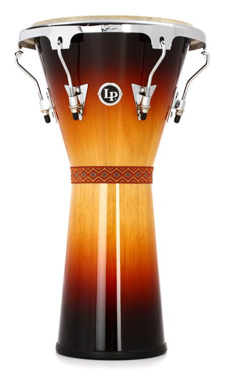 Latin Percussion Aspire Tunable Djembe - Vintage Sunburst with Chrome image 1
