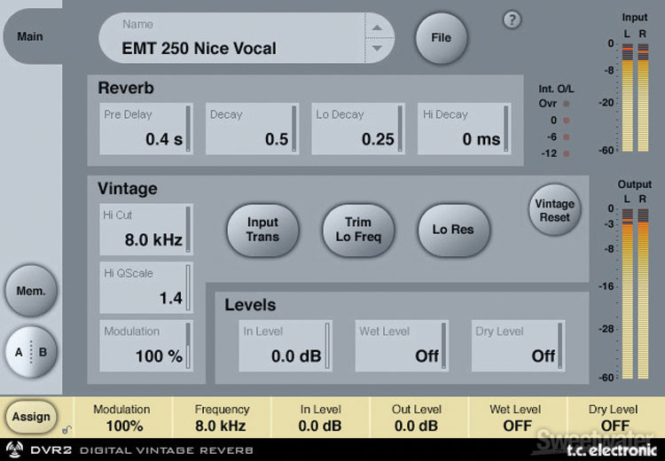 TC Electronic DVR2 Plug-in - TDM image 1