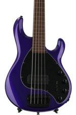 Ernie Ball Music Man Stingray 5 H Lined Fretless - Firemist Purple, Pau Ferro Fingerboard