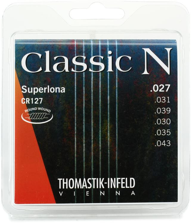 thomastik infeld classic n superlona classical guitar strings round wound bass with nylon g. Black Bedroom Furniture Sets. Home Design Ideas