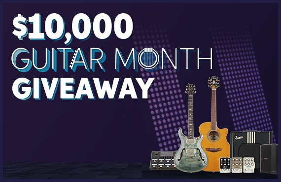 $10,000 Guitar Month Giveaway -- input your email address below to enter or click here to learn more.