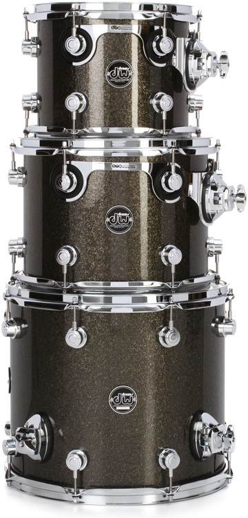 DW Performance Series 3-piece Tom Pack - Pewter Sparkle Lacquer image 1