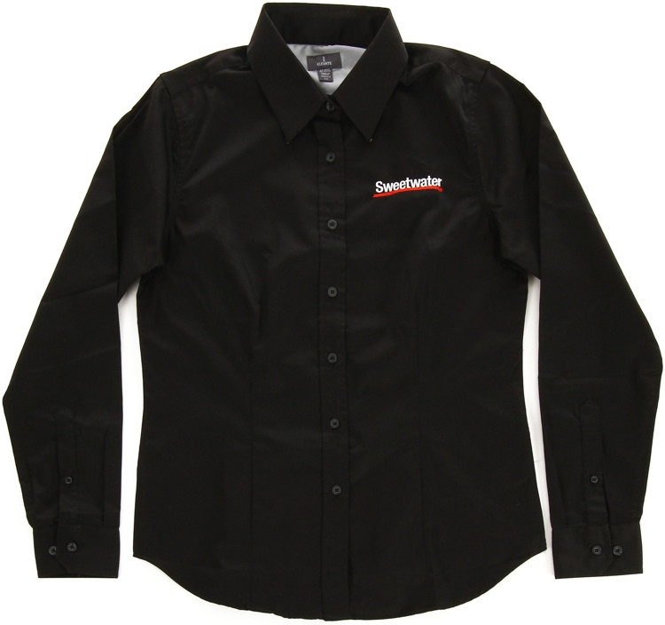 Sweetwater Women\'s Long-sleeve Oxford - Black, XL image 1
