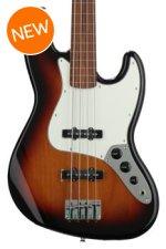 Fender Standard Jazz Bass, Fretless - Brown Sunburst with Pau Ferro Fingerboard