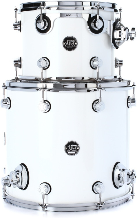 DW Performance Series 2-Piece Tom Pack - White Ice Lacquer image 1