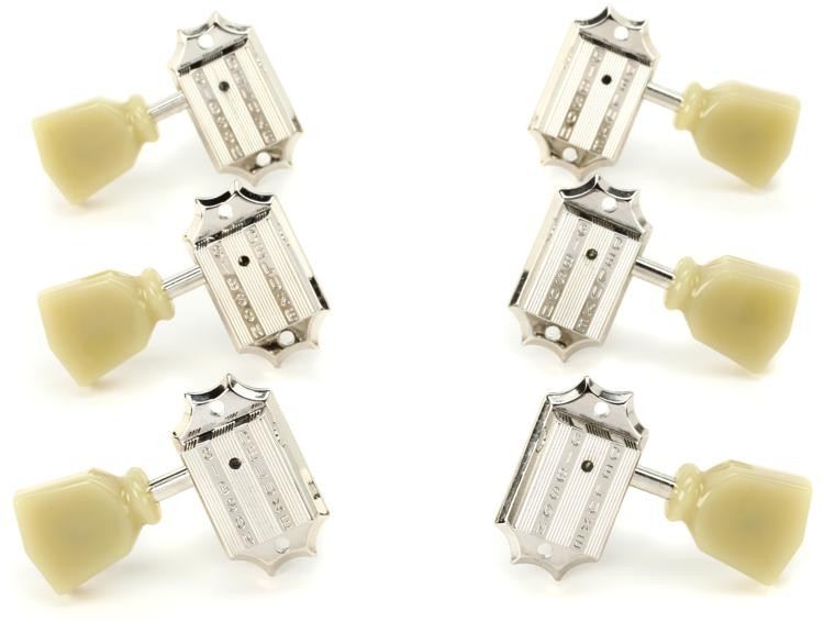 Gibson Accessories Vintage Tuning Machine Heads - Nickel w/Pearloid Buttons image 1